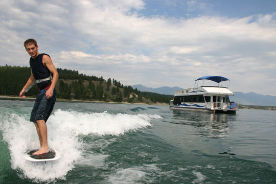 Lake Koocanusa Wake Surfer