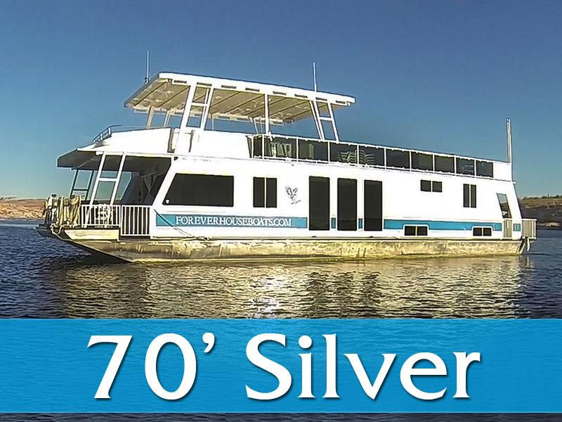 70' Silver Houseboat