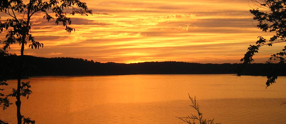 Sunset at Bull Shoals Lake
