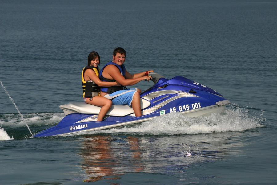 Get into some action on a personal watercraft