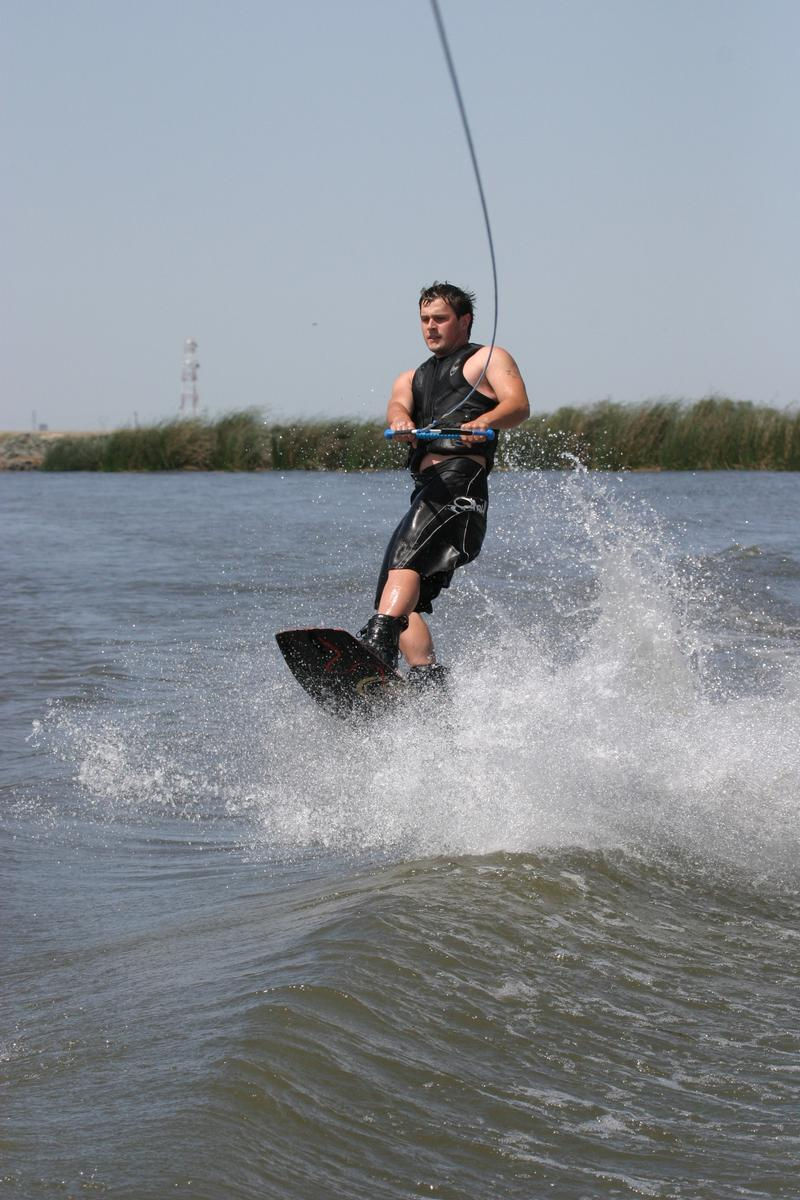 Take a speedboat out for some intense wake boarding