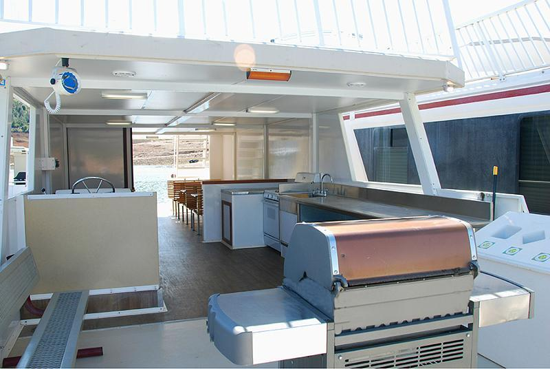 SuperCruiser Party Boat - Kitchen Area
