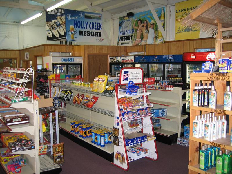 Holly Creek has snacks, sundries and drinks for your vacation