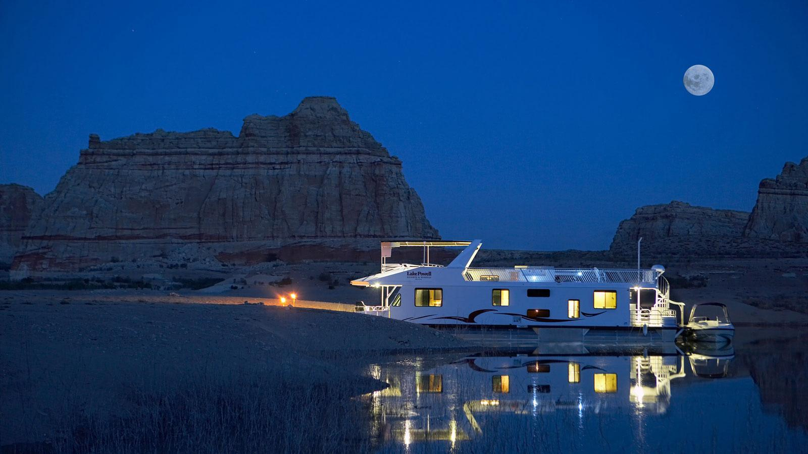 Settling in for the night on Lake Powell