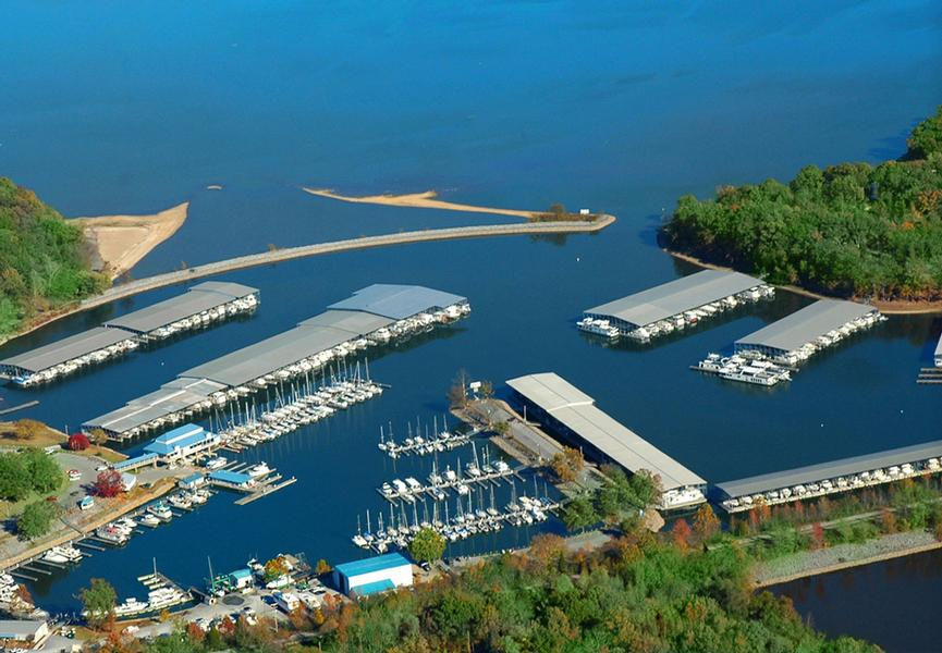 Home base at the Green Turtle Bay marina