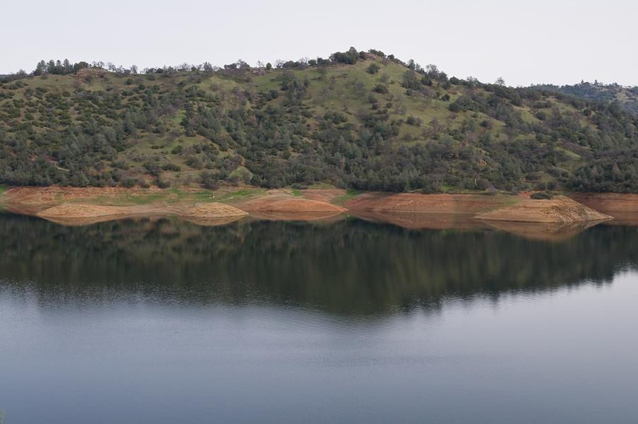 Lake Don Pedro is surrounded by forest and lined with beaches