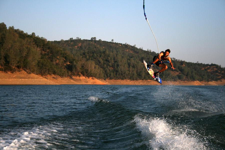 Jumping the wake never looked so scenic at Lake Don Pedro