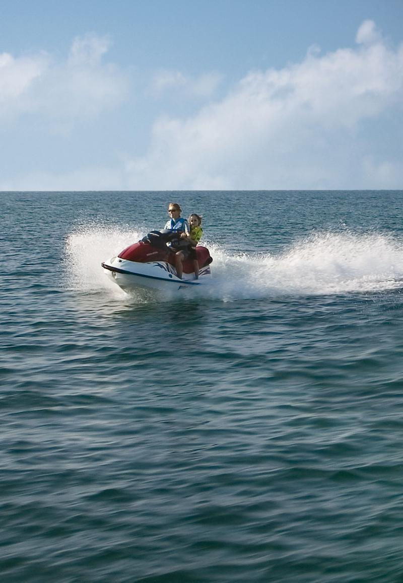 Personal watercraft make a great addition to any houseboat vacation