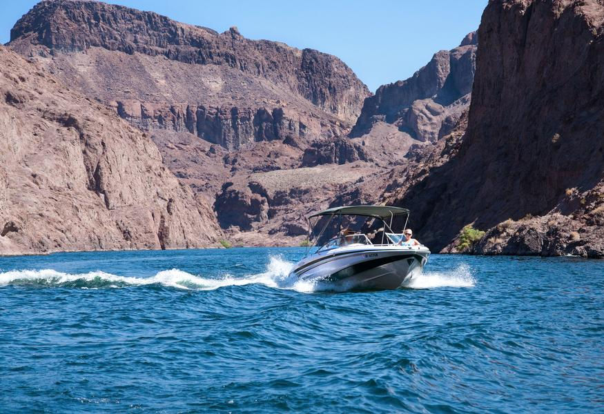 Cruise the blue waters with one of the marinas many speedboats