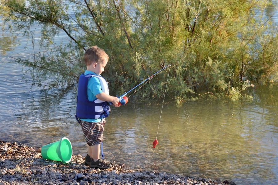 Bring along the fishing poles and have the kids help catch dinner