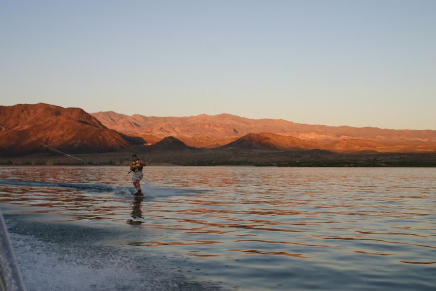 Take advantage of Mohaves vast waterways by wakeboard