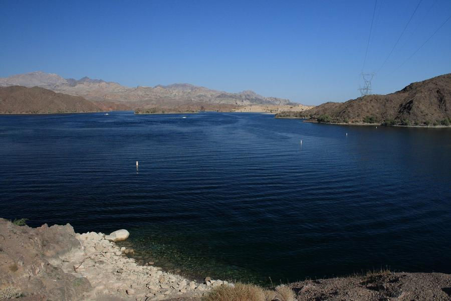 Clear blue waters at Lake Mohave are ideal for swimming