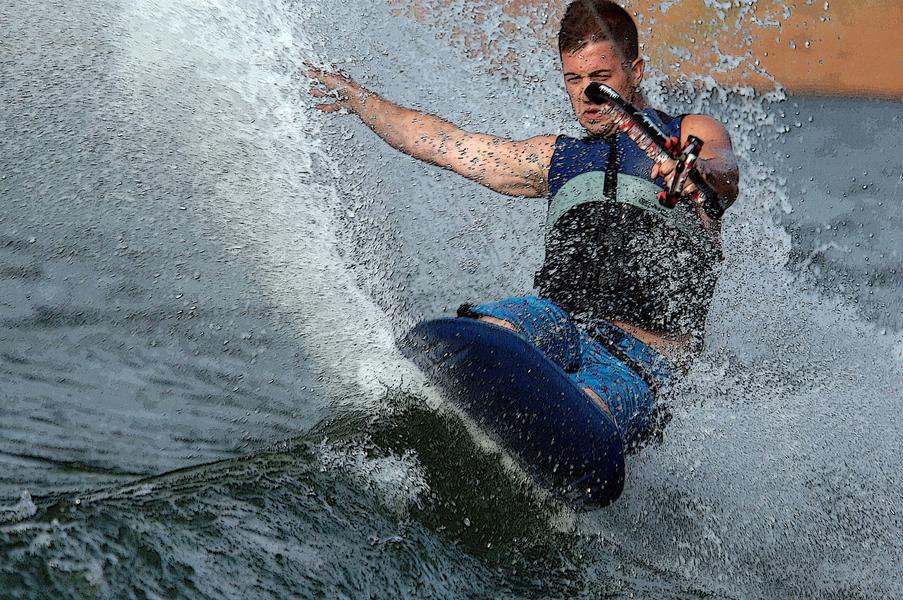 Show off your kneeboarding skills out on the open waters