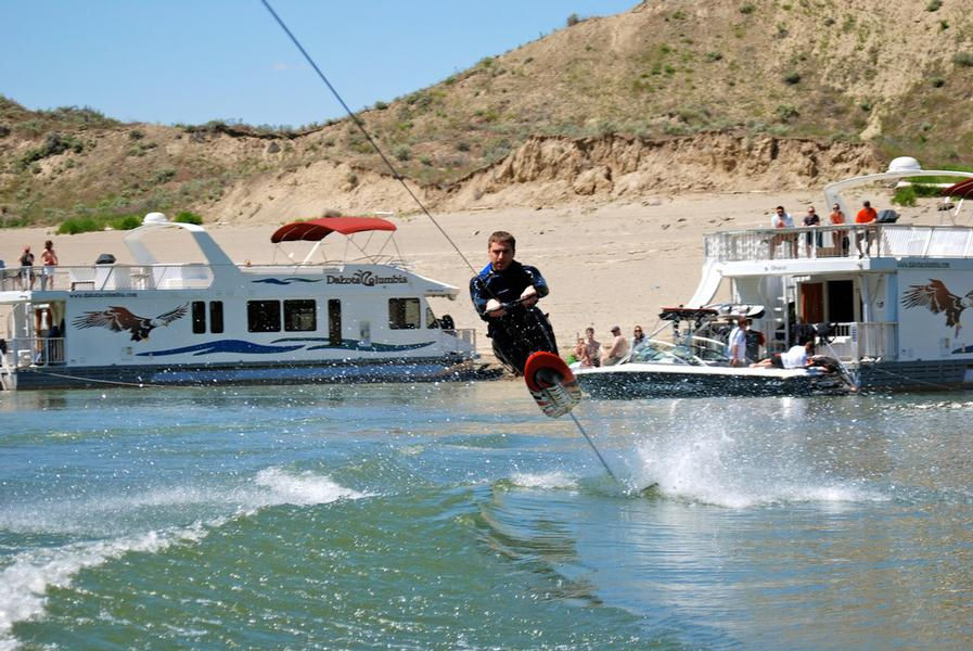 Show off your wake boarding skills