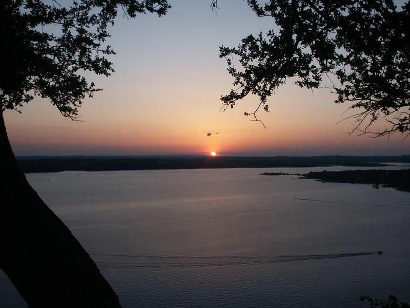 The beautiful sunset of a Lake Travis evening