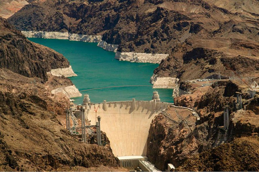 The massive Hoover Dam is a sight to see in its own right