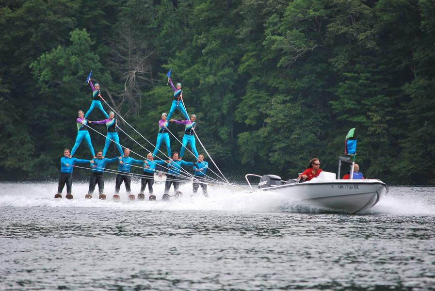 Professional skiers take to the lake to put on a show unlike any other