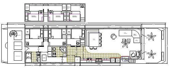 84-foot Bigfoot II Houseboat