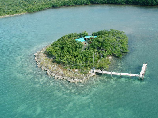 38 Foot Houseboat with Island