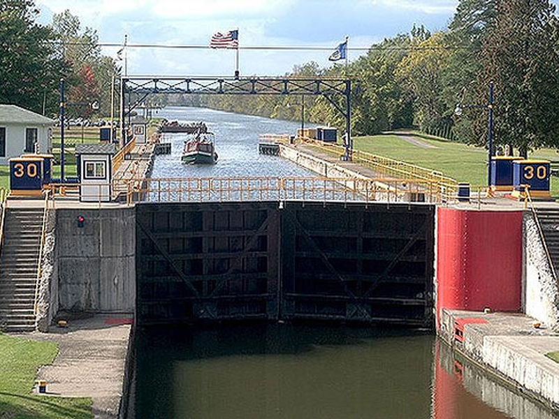 Lock gates are what allow boats to travel the canal Photos
