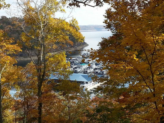 A gorgeous fall view of the Jamestown Marina