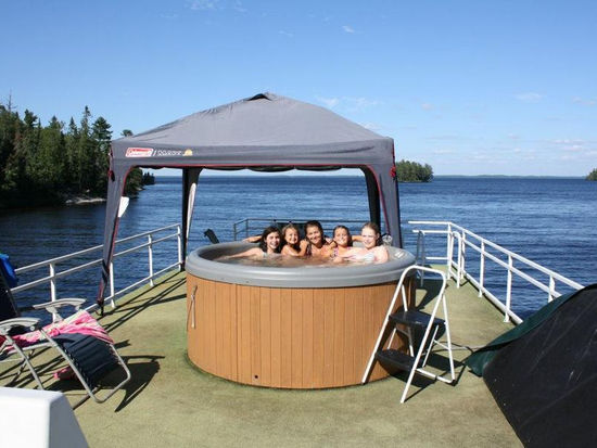 Gold Rush Jacuzzi Houseboat