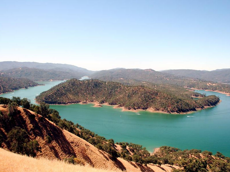 The bending blue waters at Berryessa bring a picturesque view Photos