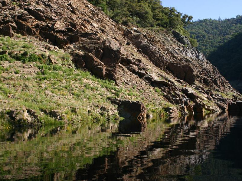 Mirrored natural beauty on the edges of Lake Oroville Photos