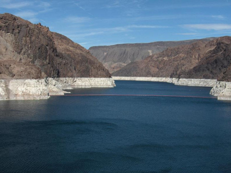 The distinctive bathtub ring of Lake Mead is instantly recognizable Photos